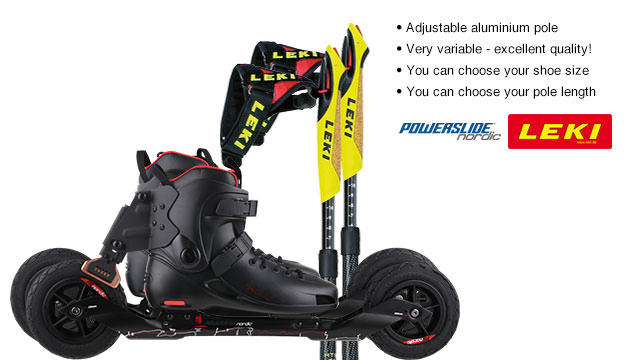Nordic Cross Skates Powerslide XC Trail 2 Powerslide XC Trail 2 Set with LEKI Titanium Vario Poles
