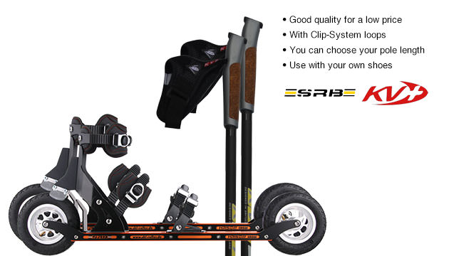 Nordic Cross Skates SRB XRS02 SRB XRS02 Set with KV+ Advance Poles